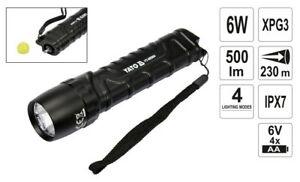 Torcia-Tascabile-6W-500-Lumen-LED-Cree-XP-G3-Immersione-Con-Glasbrecher-Kopf