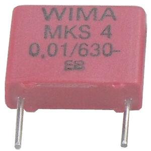 10-St-WIMA-MKS-4-Kondensator-0-010-F-10nF-10-000pF-630VDC-10-RM-7-5-akt-Neuware