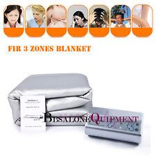 3 Zones FIR Infrared Heating  Blanket Sauna SPA Detox Fitness Body Slim Machine
