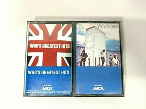 Lot of 2 The Who Audio Cassette Tapes Greatest Hits Who's Next MCA Records