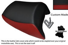 BLACK&DARK RED CUSTOM FITS SUZUKI GSF 1250 07-12 BANDIT REAR LEATHER SEAT COVER