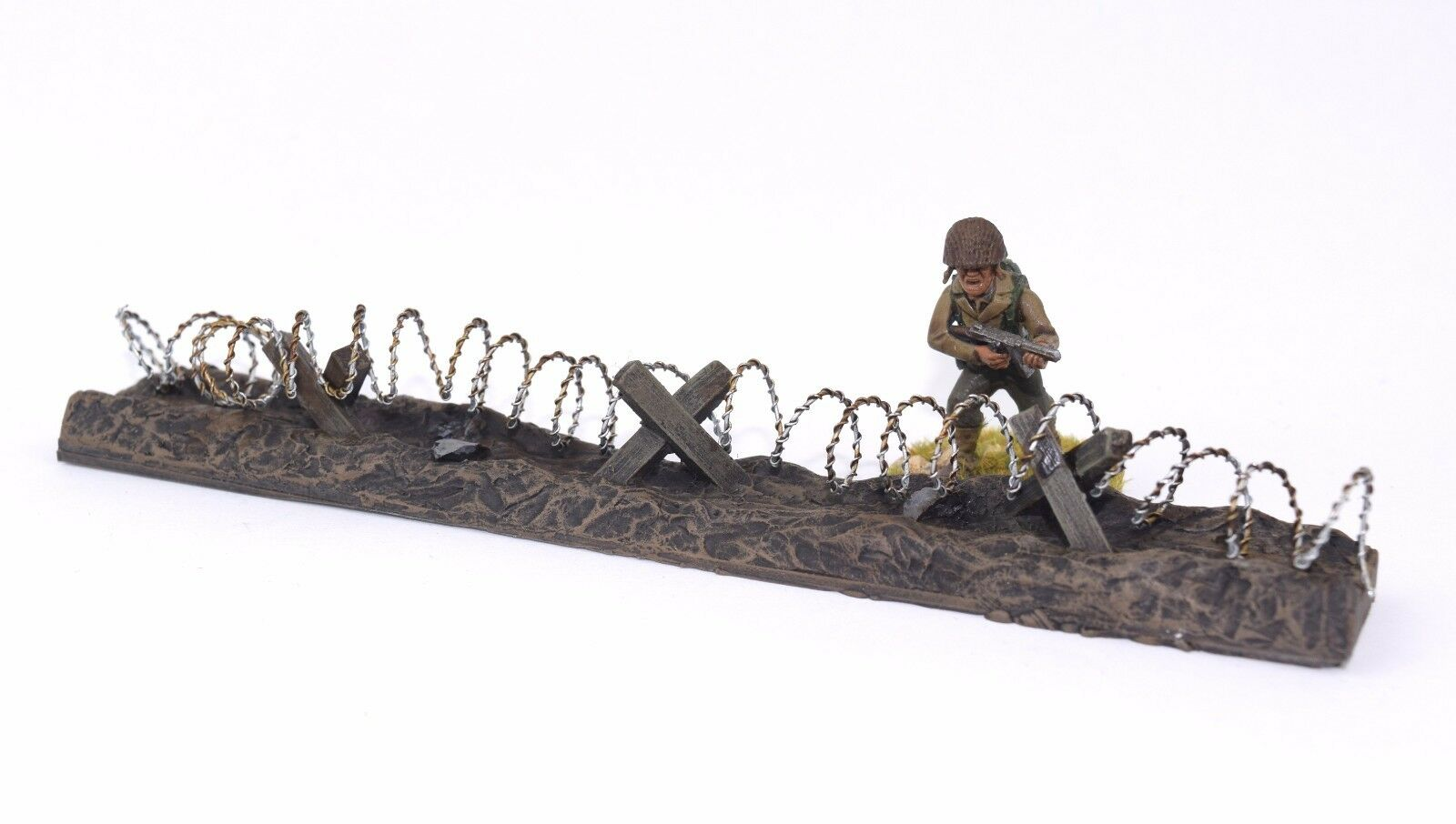 WWG Barbed Wire Defensive Position Painted and Unpainted - Wargames Diorama