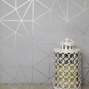 Metro-Prisme-Geometrique-Triangle-Papier-Peint-Gris-Argent-WOW006-Metallique