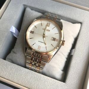 Citizen-Automatic-Watch-NB1024-59A-Rose-Gold-amp-Silver-Steel-Made-in-Japan