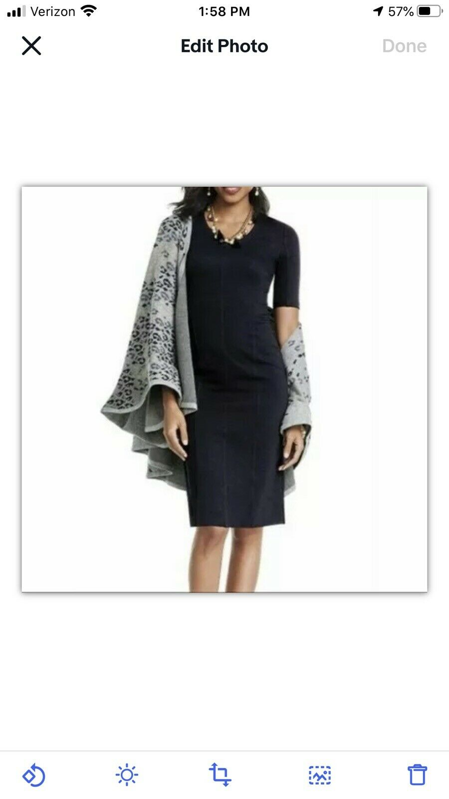 CAbi Claire Short Sleeve V Neck Sheath Dress Pont… - image 2