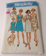 Vintage 1969 Simplicity 8266 Uncut Dress Pattern Plus Size Size 38 Bust 42