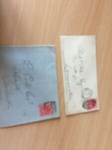 GB-UK-King-Edward-VII-2-covers-1903-both-with-dual-receipt-marks-rare-places