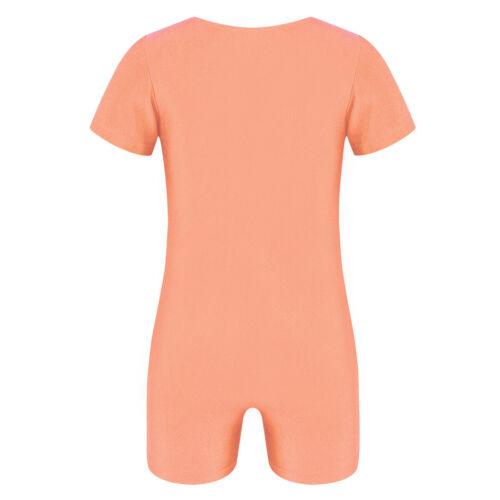 Girls Boys Kids Gymnastics Ballet Leotard Dance Dress Tank Dancewear Costume