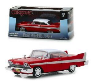 1958-PLYMOUTH-FURY-RED-034-CHRISTINE-034-MOVIE-1-43-DIECAST-MODEL-CAR-GREENLIGHT-86529