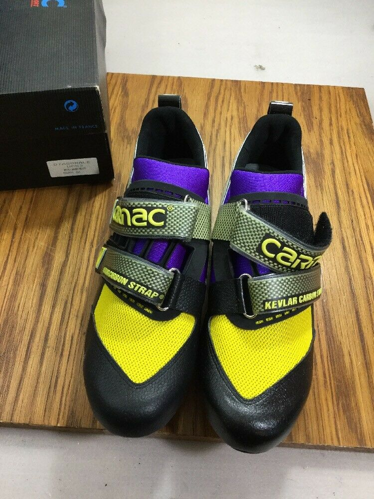Carnac Vintage Carbon Strap Road Cycling shoes Size 44 Euro  (5715-125)