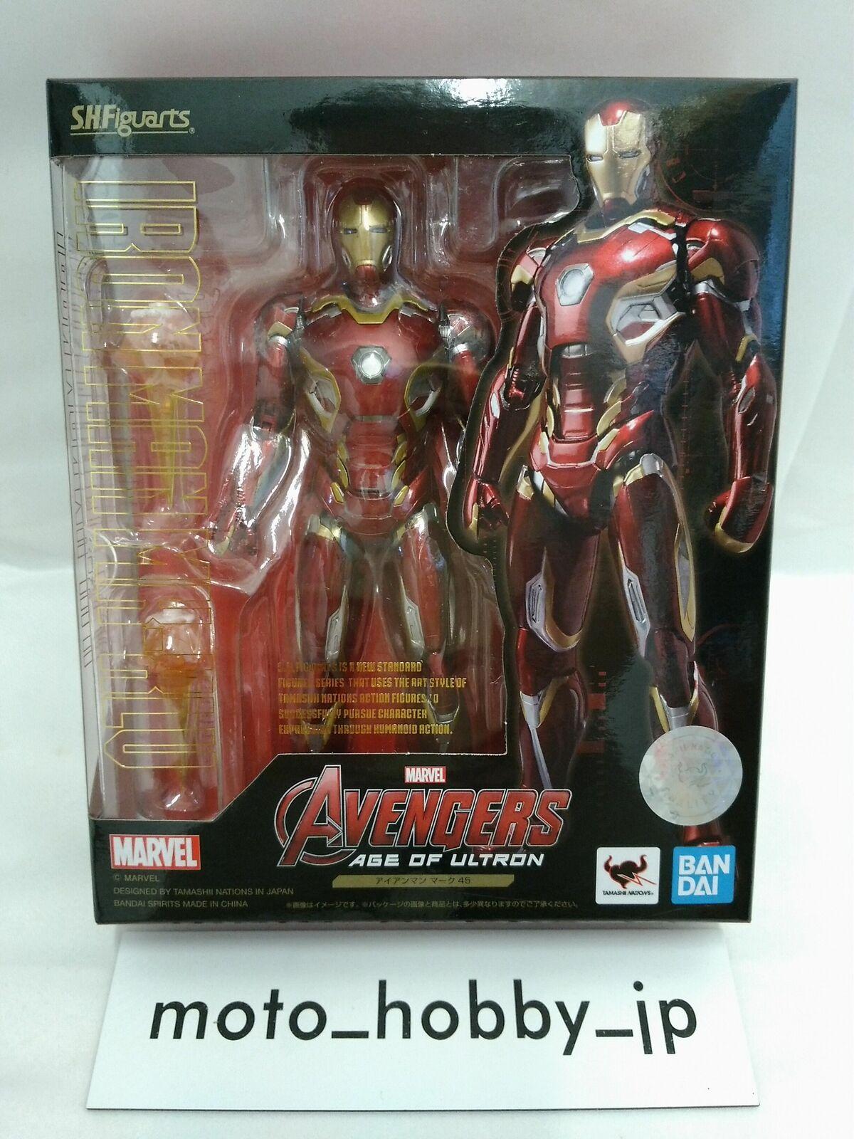 Bandai S. H. FIGUARTS Avengers Iron Man Mark 45 155mm Figura Acción de Japón F