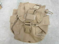 US Military 1 QT MOLLE TAN COYOTE CANTEEN COVER Utility Pouch Missing Snap