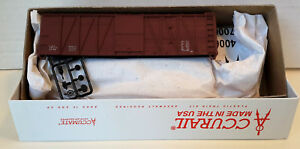HO Scale Accurail 40' O.B.Wood Boxcar Mtl End 'DATA ONLY' Mineral Red Item #4398