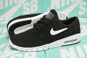 Image is loading Nike-SB-Stefan-Janoski-Max-L-Black-White-