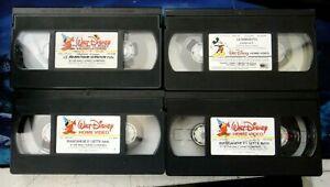 LOTTO N° 4 VIDEOCASSETTE VHS - CARTONI ANIMATI WALT DISNEY