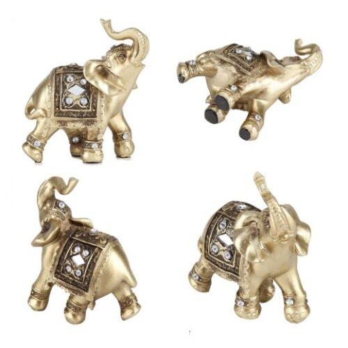 Elephant Statue Ornament Figurine Vintage Resin Crafts For Home Decor Sculpture
