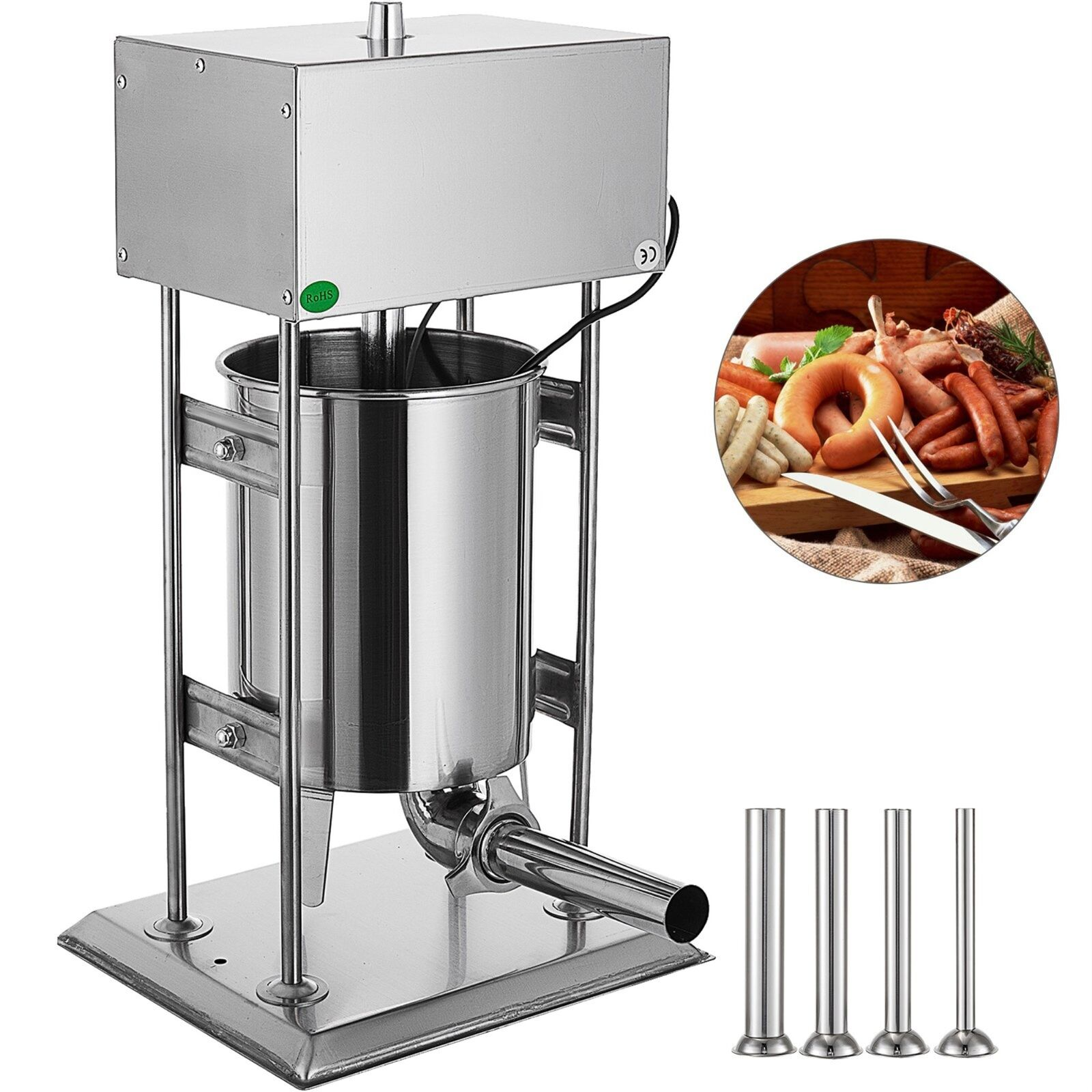 10l 25lb Electric Commerical Sausage Stuffer Stainless Dual Speed Price. Buy it now for 395.06