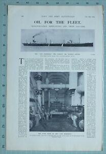 1914-WW1-Imprime-San-Fraterno-Huile-Citerne-Pompe-Salle-Interieur-pour-Flotte