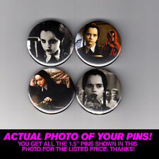 "WEDNESDAY ADDAMS - 1.5"" PINS / BUTTONS (poster print family shirt vintage movie)"