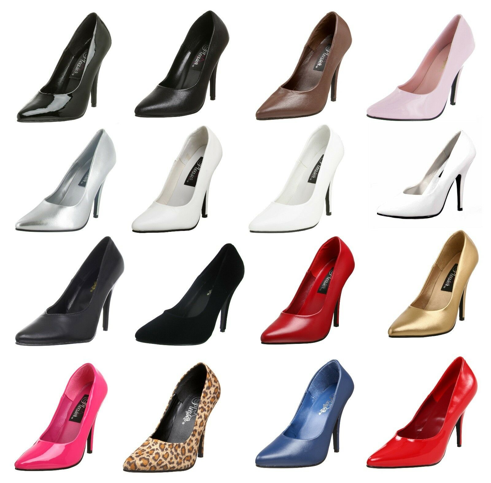 Pleaser Seduce-420 Sexy Classic pumps in 16 Farbes Größe 5 - 16