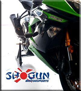 No Cut Frame Sliders Black For 2013-2014 Kawasaki Ninja ZX-6R ZX6R