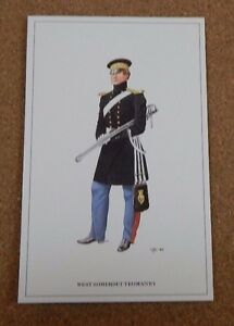 Military-Uniforms-Postcard-West-Somerset-Yeomanry-unposted