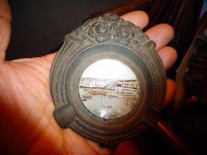 Ancien-Cendrier-en-Regule-Art-Nouveau-Souvenir-d-039-Alger