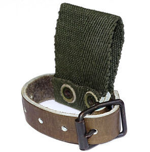 swedish army leather strap belt loop axe tool shovel holder