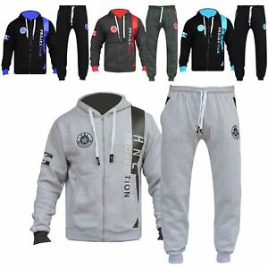 2fc745448573 Details about Boys Girls Designer Tracksuit Zipped Top Bottom Kids Jogging  Suit Age 7-13 Years