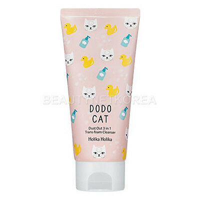 [Holika Holika] Dust Out DODO CAT 3 in 1 Trans-foam Cleanser 120g / Pure