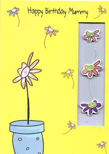 Happy Birthday Mummy Embellished Birthday Card Second Nature Greeting Cards