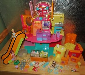 POLLY-POCKET-FASHION-WORLD-DOLL-DESIGNER-MALL-STORE-PLAYSET-PET-COUNTER-SET-LOT