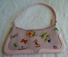 Vintage Matt & Nat Montreal Vegan Pink Butterflies & Flowers Women's Small Purse