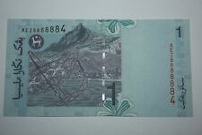 (PL) RM 1 AEZ 8888884 UNC NICE, FANCY, LUCKY, SPECIAL & ALMOST SOLID NUMBER NOTE