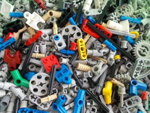 Lego Technic100pce Random Bundle Parts Connectors Pins Axles OVER 400 SOLD