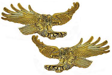 """Right/ Left emblem set, screaming eagles 4.25"""""""