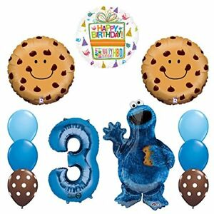 NEW-Sesame-Street-Cookie-Monsters-3rd-Birthday-party-supplies