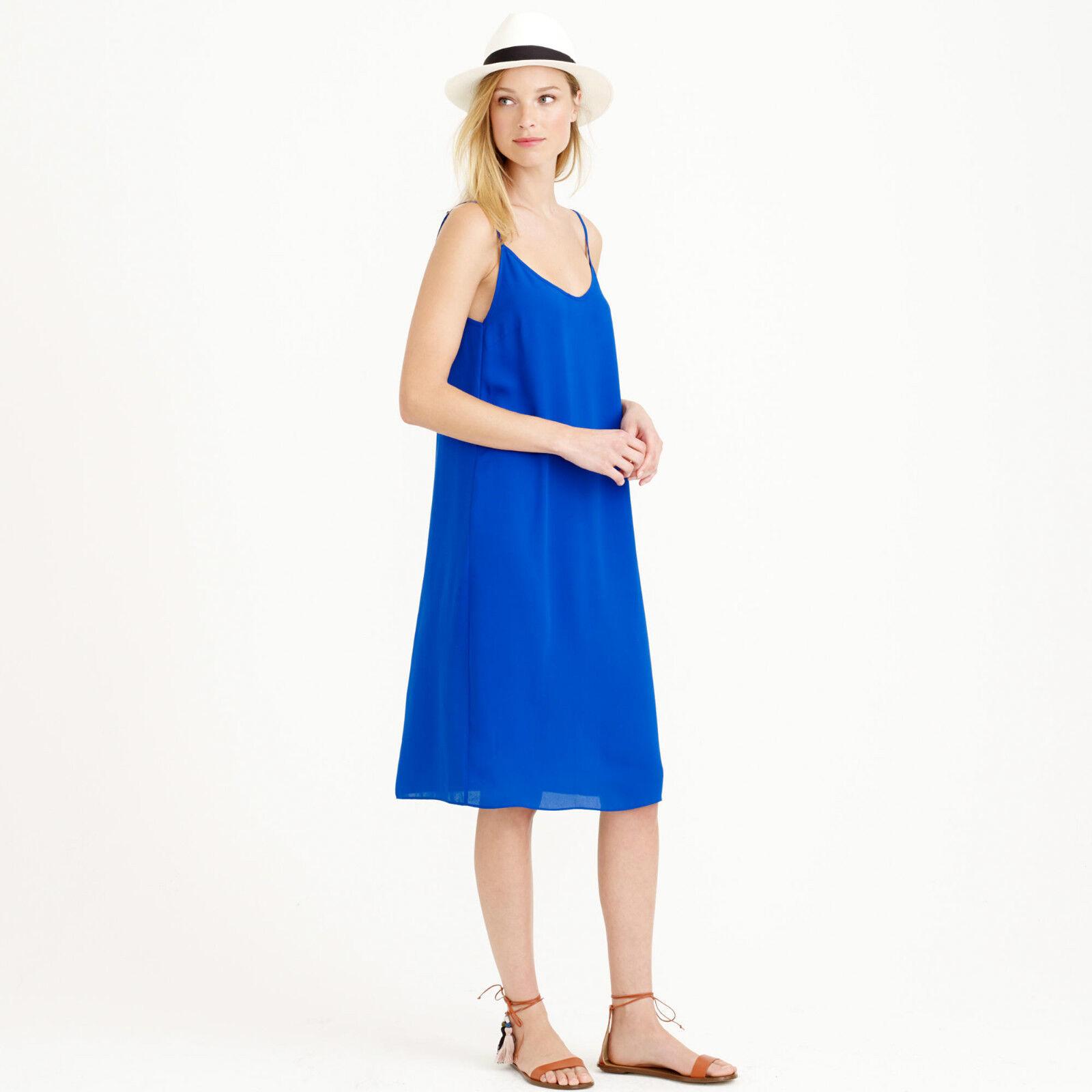 J.Crew Crepe Dress Size ROYAL blueE Size XXS