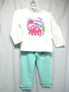 68d3eeafefc4 New Garanimals 2 Piece Top Pants Girls Size 24 Months