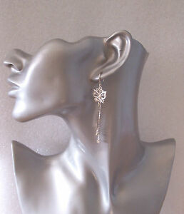 Pretty-Silver-Butterfly-Dangly-Earrings-with-Diamantes-Clip-on-Option