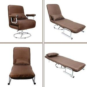 Cool Details About 5 Positions Folding Lounge Chair Sofa Bed Armchair Sleeper Single 3600Swivel Dailytribune Chair Design For Home Dailytribuneorg