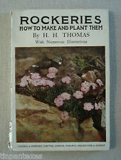 Rockeries How to Make & Plant Them  H H Thomas 1928 Illustrated Paperback Garden