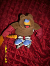 FISHER PRICE PLUSH 8 INCH BEAR 2002 SALT LAKE WINTER OLYMPICS HOCKEY