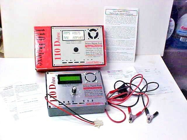 Astro Flight 110 Deluxe Digital Peak Charger-Discharger w Box & Instructions +