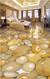 3D Unique Shiny Stone 8 Floor Wall Paper Murals Wall Print AJ WALLPAPER UK Lemon