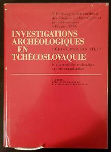 """Livre """"Investigations Archéologiques en Tchécoslovaquie"""" J. FILIP 1966 Ancien"""