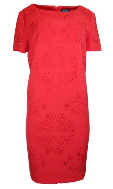 Tahari ASL Cap Sleeve Shift Dress, Red