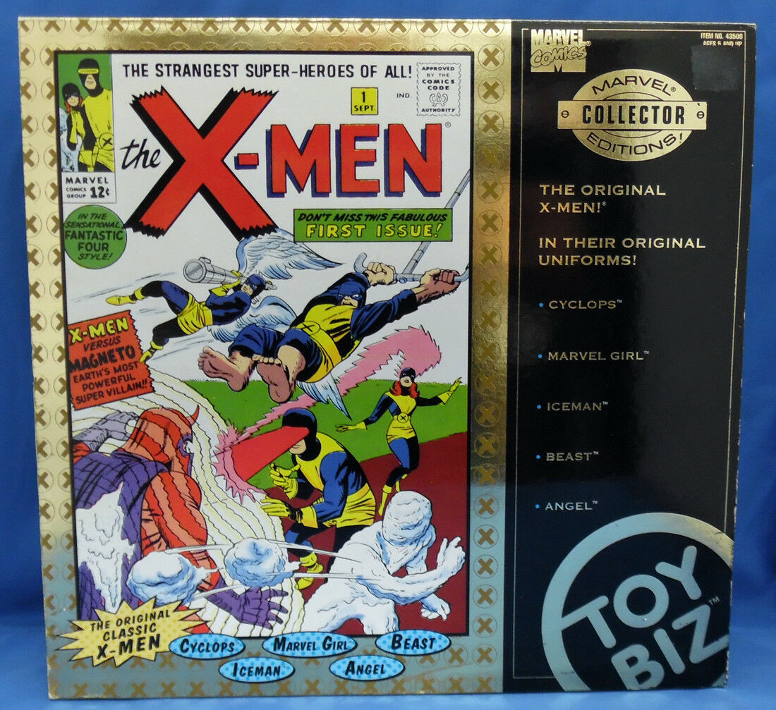 ToyBiz Marvel Collector Editions Original X-Men 1st Edition Gift Box Set