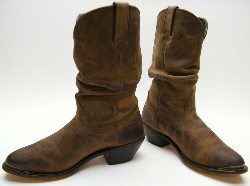 Damenschuhe DURANGO RD542 BROWN Stiefel LEATHER SLOUCH COWBOY WESTERN Stiefel BROWN SZ 8.51/2 M 40f41f