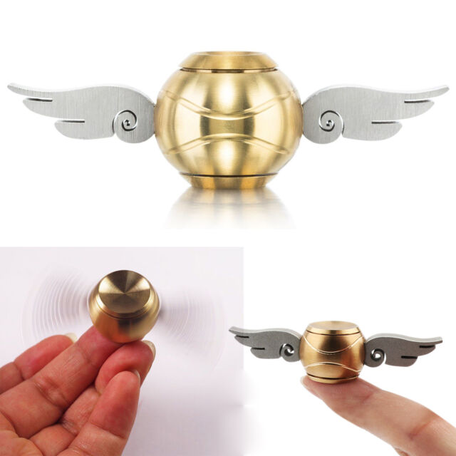 Harry Potter Golden Snitch Hand Fidget Spinner Wing ADHD Stress Relief Toy Metal